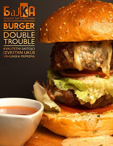 Double Trouble Burger - Koncept Bar Bajka Banja Luka