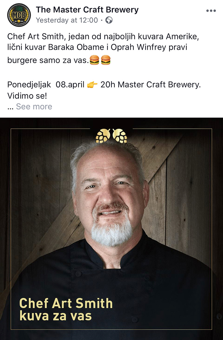 Art Smith - The Master Craft Brewery Banja Luka