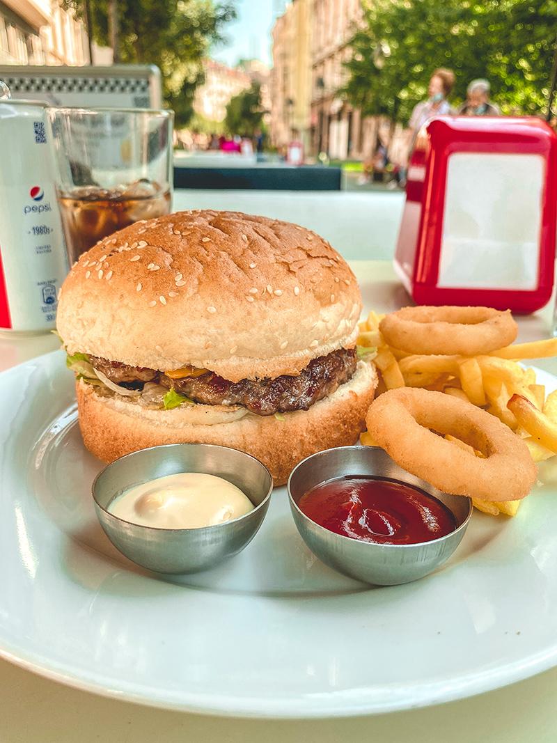 Smoky Galaxy Burger - Intergalactic Diner, Beograd