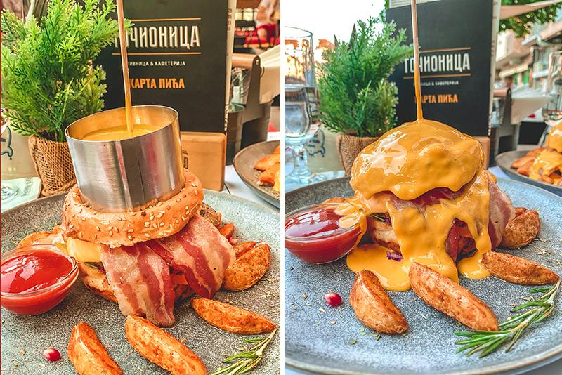 """""""Topljeni sir"""" Burger - Točionica Pub, Novi Sad"""