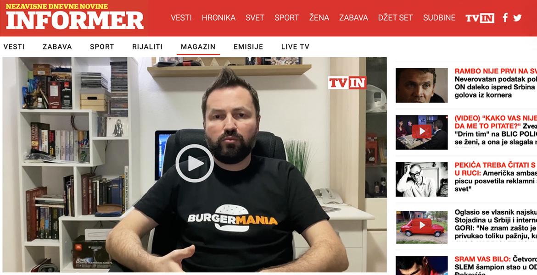 BurgerMania Nebojša Lakić Tv In